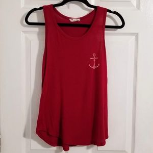Cute Red Anchor Tank